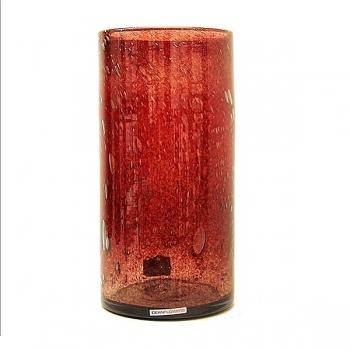 Henry Dean Vase/Windlight Cylinder, h 30 x Ø 15 cm, Garnet
