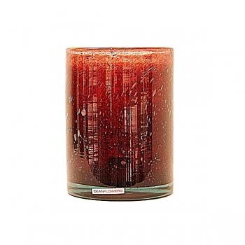Henry Dean Vase/Windlight Cylinder, h 17 x Ø 13 cm, Garnet