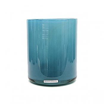 Henry Dean Vase/Windlight Cylinder, h 17 x Ø 13 cm, Lagoon