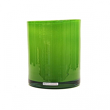 Henry Dean Vase/Windlight Cylinder, h 17 x Ø 13 cm, Apple Green