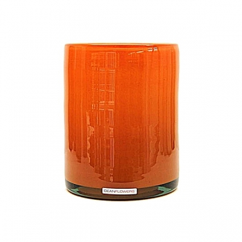 Henry Dean Vase/Windlight Cylinder, h 17 x Ø 13 cm, Mandarin