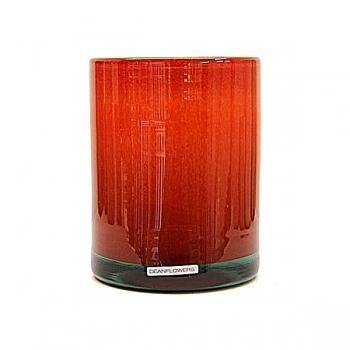 Henry Dean Vase/Windlight Cylinder, h 17 x Ø 13 cm, Cayenne