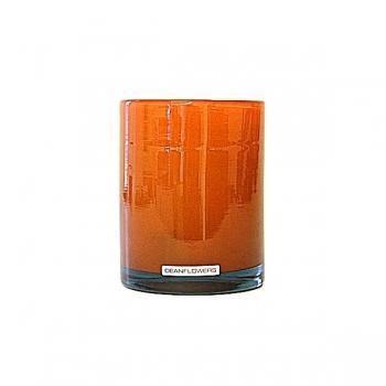 Henry Dean Vase/Windlight Cylinder, h 13 x Ø 10 cm, Mandarin