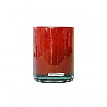 Henry Dean Vase/Windlight Cylinder, h 13 x Ø 10 cm, Cayenne