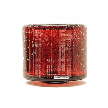 Henry Dean Vase/Windlight Fumiko, h 16 x 17 cm, Garnet
