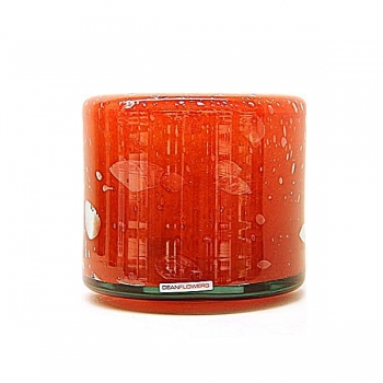 Henry Dean Vase/Windlight Fumiko, h 16 x 17 cm, Fire