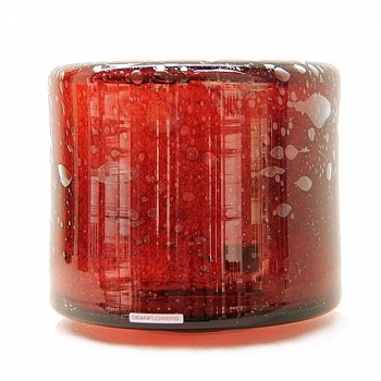 Henry Dean Vase/Windlight Fumiko, h 20 x 21 cm, Garnet