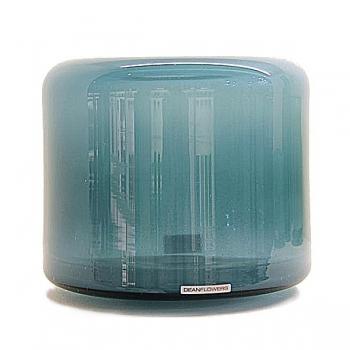 Henry Dean Vase/Windlight Fumiko, h 20 x 21 cm, Lagoon