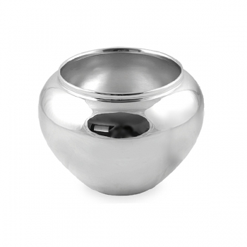 Edzard Vase/Cachepot Madeira, shiny QualiPlated® with silver, h 15 x Ø 19 cm