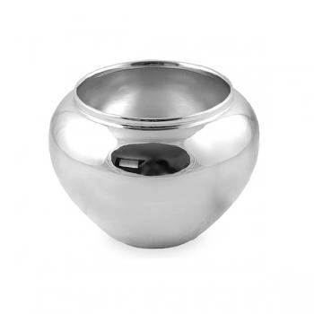 Edzard Vase/Übertopf Madeira, glänzend QualiPlated® versilbert, H 15 x Ø 19 cm