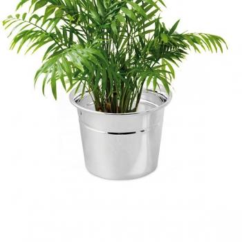 Edzard Vase/Übertopf Virginia, glänzend QualiPlated® versilbert, H 10 x Ø 14 cm