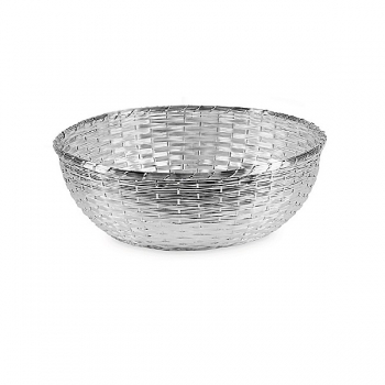 Edzard Basket Basso, shiny silver plated non tarnishing, h 10 x Ø 18 cm