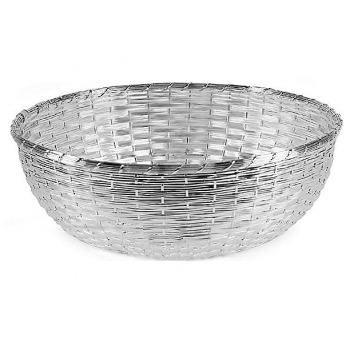 Edzard Basket Basso, shiny silver plated non tarnishing, h 14 x Ø 38 cm