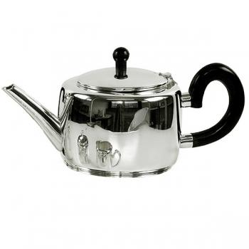 Edzard Tea Pot Sheffield, shiny QualiPlated® with silver/Bakelite, capacity 1.2 l