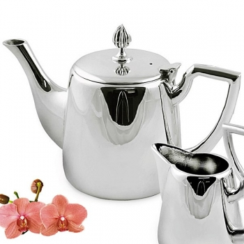 Edzard Tea Pot Cimba, shiny QualiPlated® with silver, capacity 0.85 l