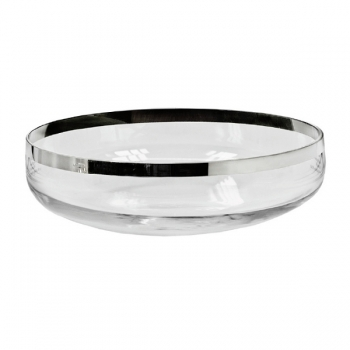 Edzard Bowl Mason, crystal glass Platinum coated, h 8 x Ø 23 cm