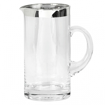Edzard Jug Robert, crystal glass Platinum coated, h 20 x Ø 10 cm, capacity 1.0 l