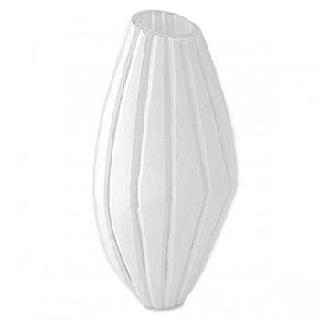 XO dsgn Vase Vertigo, cut, h 38 x Ø 19 cm, white