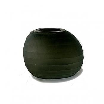XO dsgn Vase Cocoon Horizon, cut, h 18 x Ø 23 cm, dark grey