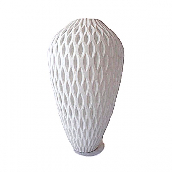 XO dsgn Vase Cone, combcut, h 34 x Ø 20 cm, white