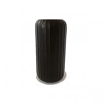 XO dsgn Vase Bambola Straight, cut, h 24 x Ø 12 cm, dark grey