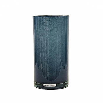 Henry Dean Vase/Windlight Cylinder, h 20 x Ø 10 cm, Denim