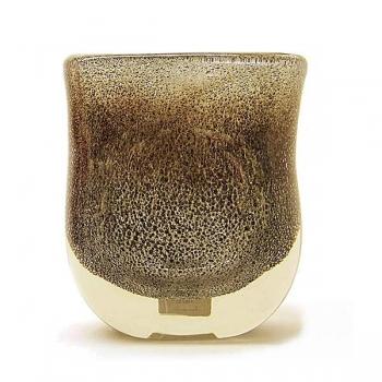 Henry Dean Flower Vase Sablon oval, h 21 x w 19 cm, Grey Gold