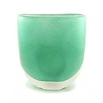 Henry Dean Flower Vase Sablon oval, h 21 x w 19 cm, Mint