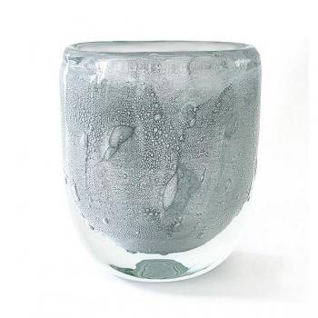 Henry Dean Flower Vase Sablon oval, h 21 x w 19 cm, Silver