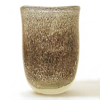 Henry Dean Flower Vase Sablon oval, h 32 x w 25 cm, Grey Gold