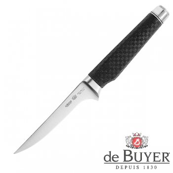 de Buyer Boning Knife, Design FK2, stainless steel X50CrMoV15/Carbon, l blade/total 13/27 cm
