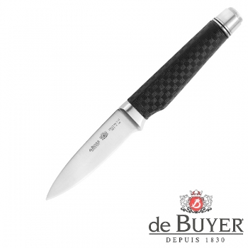de Buyer Paring Knife, Design FK2, stainless steel X50CrMoV15/Carbon, l blade/total 9/21 cm