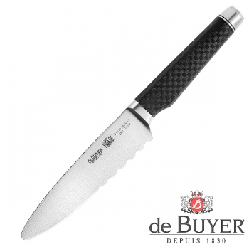 de Buyer Carving Knife small, Design FK2, stainless steel X50CrMoV15/Carbon, l blade/total 16/30 cm