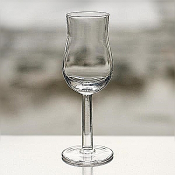 Henry Dean 6 whisky glasses with foot, h 12 cm