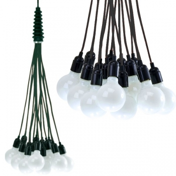 Design Hanging Lamp/Ceiling Lamp Bundle, with black cables, without bulbs, 15 x E 27