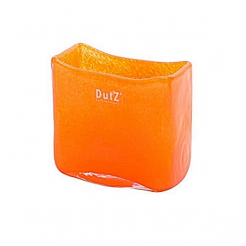 DutZ®-Collection Vase rectangular, l 13 x h 13 x d 7 cm, red orange