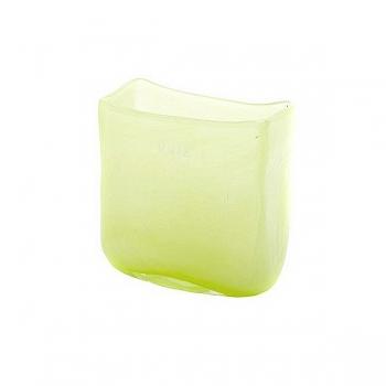 Collection DutZ® vase/récipient rectangulaire, h 13 x L 13 x l 7 cm, vert clair