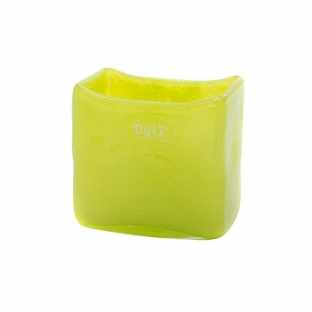 DutZ®-Collection Vase rectangular, l 13 x h 13 x d 7 cm, lime