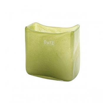 Collection DutZ® vase/récipient rectangulaire, h 13 x L 13 x l 7 cm, vert foncé