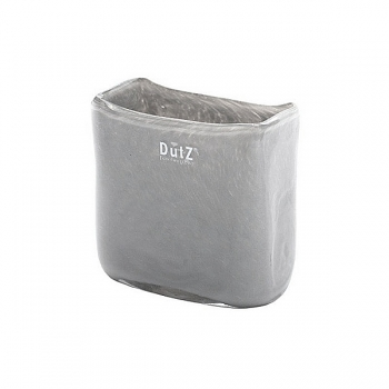 Collection DutZ® vase/récipient rectangulaire, h 13 x L 13 x l 7 cm, gris moyen