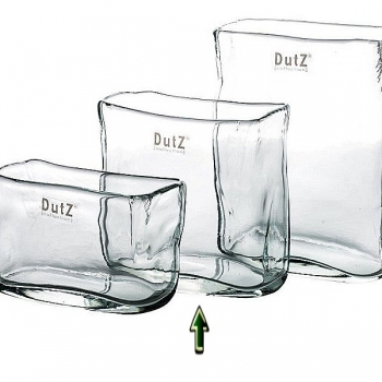 Collection DutZ® vase/récipient rectangulaire, h 13 x L 13 x l 7 cm, claire