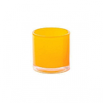 DutZ®-Collection Windlight Votive, h 10 x Ø 10 cm, yellow orange