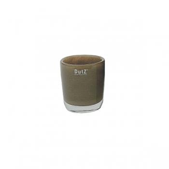 Collection DutZ® vase Conic, h 11 x Ø 9.5 cm, marron