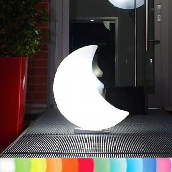 8-Seasons-Design-Light-Object, Moon, white, h 60 x w 40 x d 15 cm, Indoor/Outdoor, LED-color change/remote ctrl, CE IP44, power plug, 5 m cable