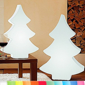 8-Seasons-Design-Light-Object, X-Mas Tree, white, h 78 x w 55 x d 15 cm, Indoor/Outdoor, LED-color change/remote ctrl, CE IP44, power plug, 5 m cable