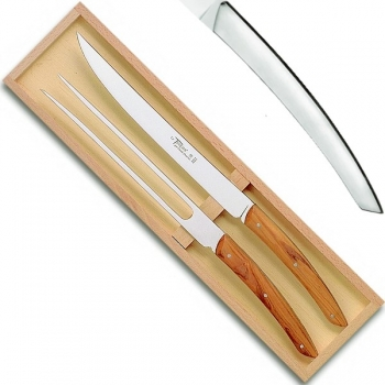 Thiers carving set serving set in box, l 32 cm, satined stainless steel