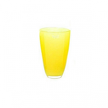 Collection DutZ® Vase, h 21 cm x Ø 13 cm, jaune