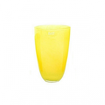 Collection DutZ® Vase, h 26 cm x Ø 16 cm, jaune