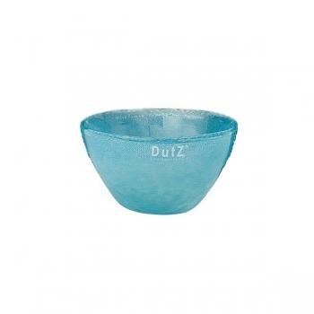 DutZ®-Collection Glass Bowl, h 7 x Ø 12 cm, blue petrol