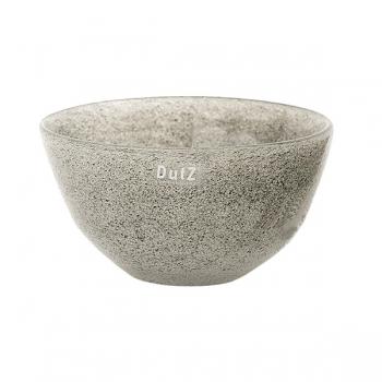 Collection DutZ® Bol en Verre, h 11 x Ø 20 cm, gris moyen